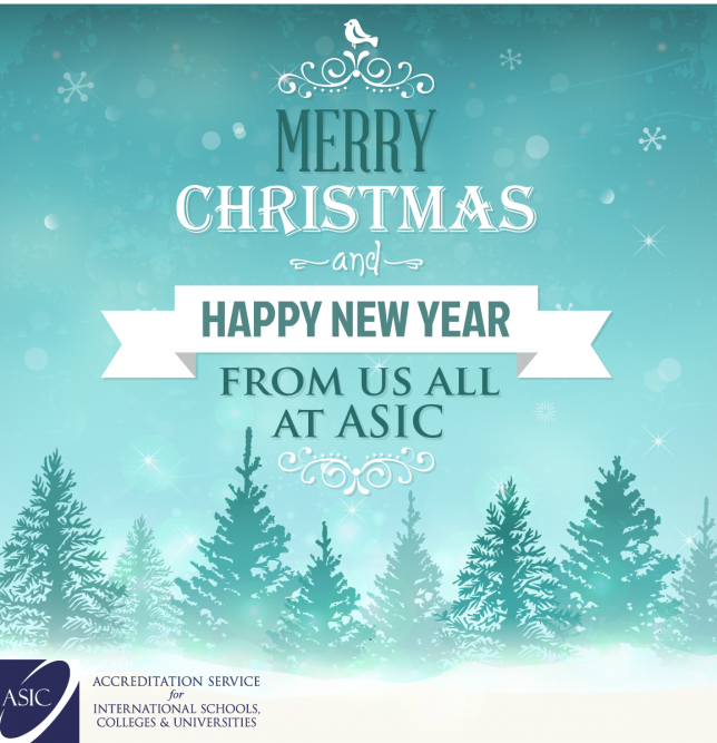 Merry Christmas and Happy New Year from us all at ASIC